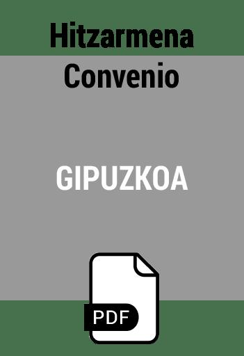 Convenio Gipuzkoa